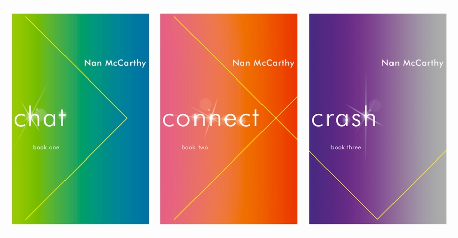 New editions of Chat, Connect, & Crash, Rainwater Press, 2014. (cover designs by David High)
