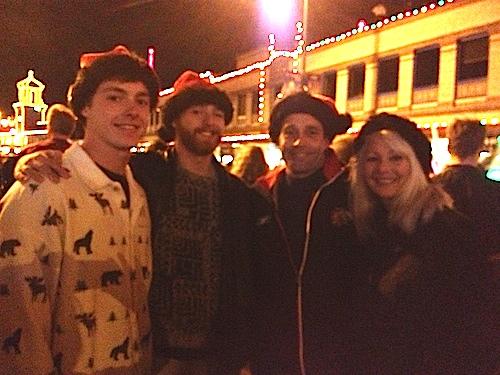 plaza lights 2012 w: santa hats