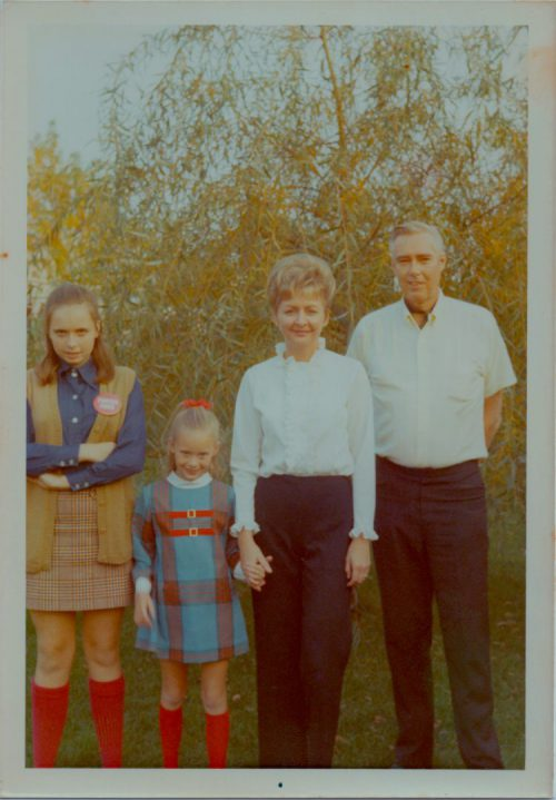 Gerarda, Nancy, Dorothy, Ben on Nancy's 9th birthday in October 1970. Ben died less than three months later.